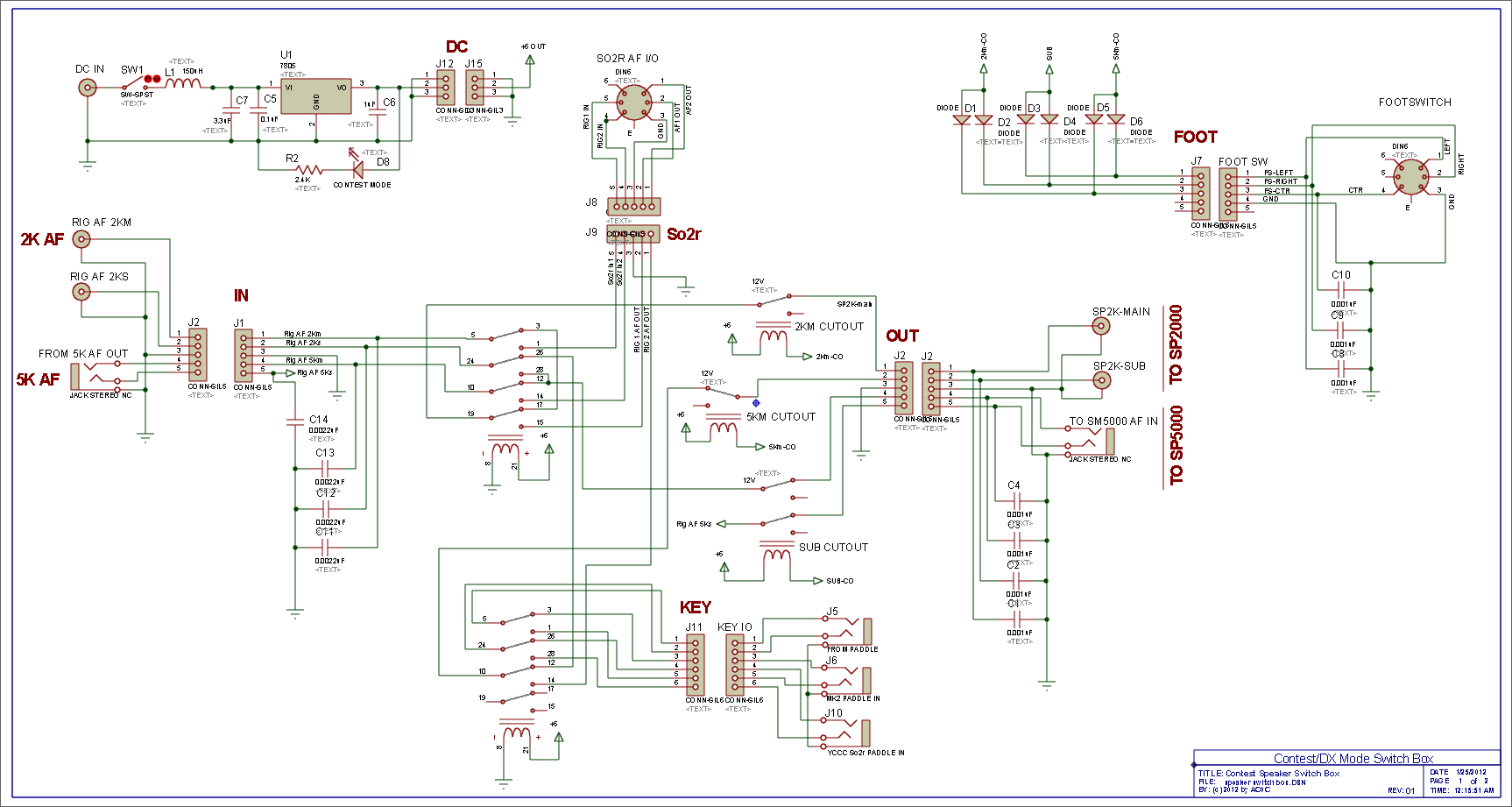 Here Is The Circuit Schematic Click On Picture To Get A Full Speaker Switch Wiring Diagrams Paddle Switching Light Bulb For Higher Resolution View Of